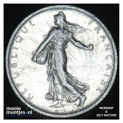 1 franc - France 1910 (KM 844.1) (kant B)