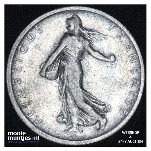 1 franc - France 1908 (KM 844.1) (kant B)