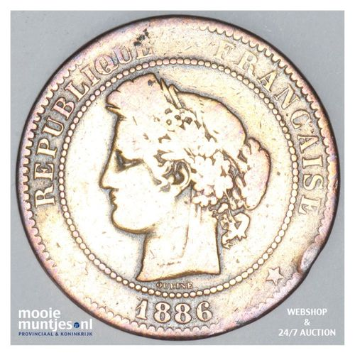 10 centimes - France 1886 A (Paris) (KM 815.1) (kant A)