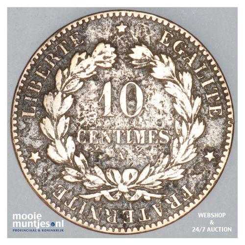 10 centimes - France 1876 A (Paris) (KM 815.1) (kant B)