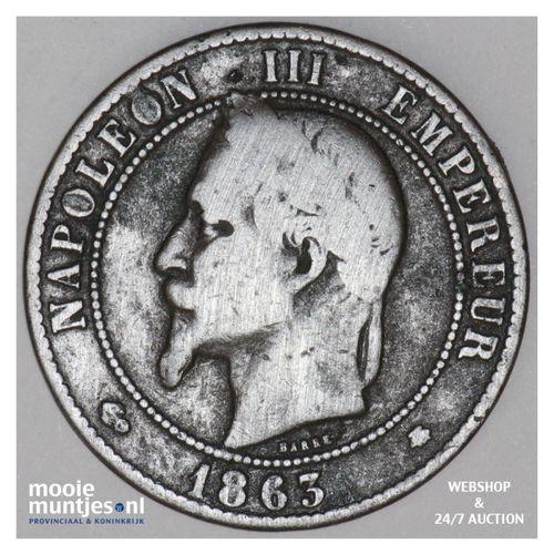 10 centimes - France 1863 A (Paris) (KM 798.1) (kant A)