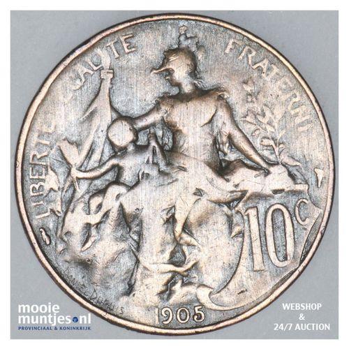 10 centimes - France 1905 (KM 843) (kant A)
