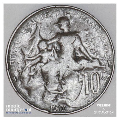 10 centimes - France 1910 (KM 843) (kant A)