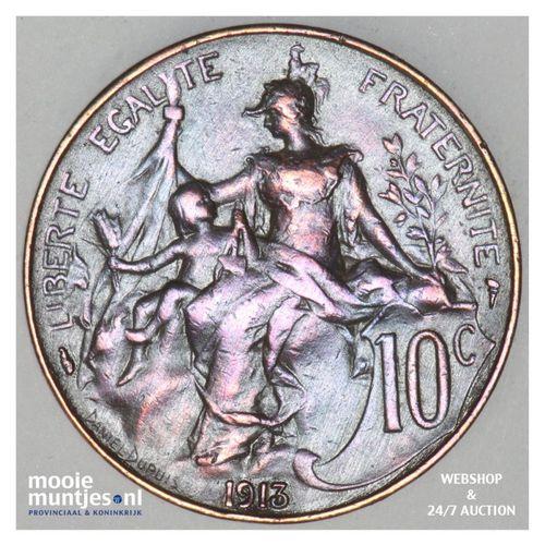 10 centimes - France 1913 (KM 843) (kant A)