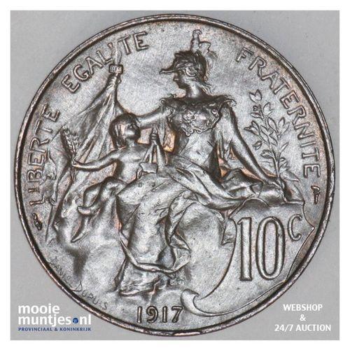 10 centimes - France 1917 (KM 843) (kant A)