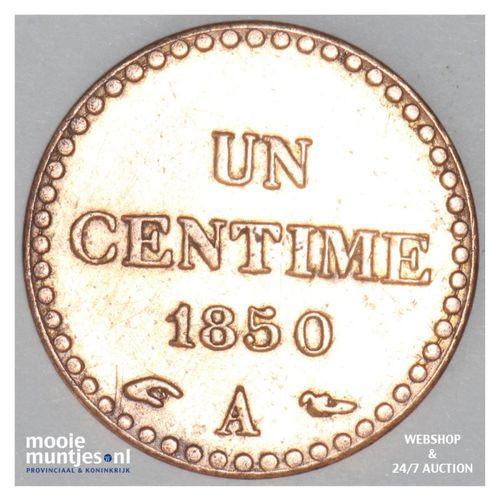 centime - France 1850 A (Paris) (KM 754) (kant A)