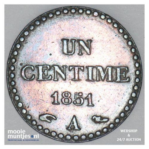 centime - France 1851 A (Paris) (KM 754) (kant A)