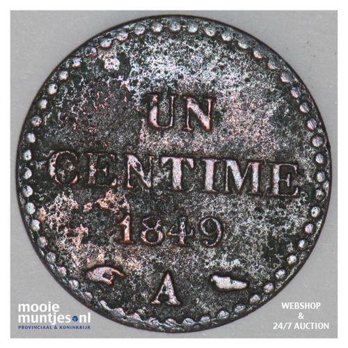 centime - France 1849 A (Paris) (KM 754) (kant A)