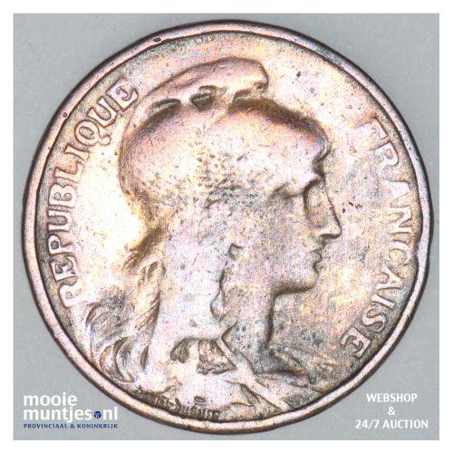 5 centimes - France 1908 (KM 842) (kant B)