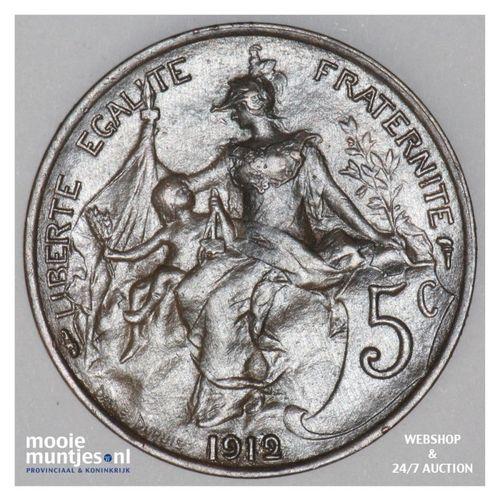 5 centimes - France 1912 (KM 842) (kant A)