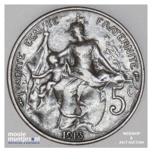 5 centimes - France 1913 (KM 842) (kant A)