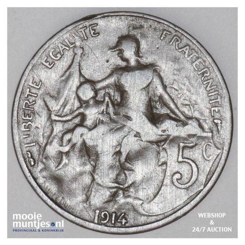 5 centimes - France 1914 (KM 842) (kant A)