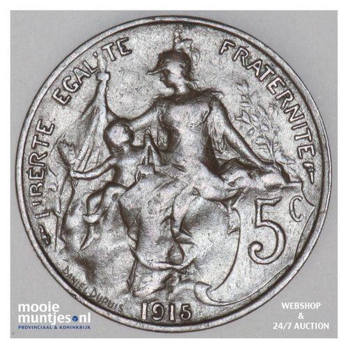 5 centimes - France 1915 (KM 842) (kant A)