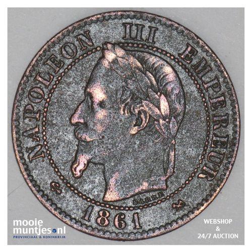2 centimes - France 1861 K (Bordeaux) (KM 796.6) (kant A)