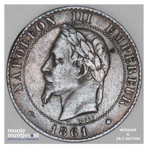 2 centimes - France 1861 BB (Strasbourg) (KM 796.5) (kant A)