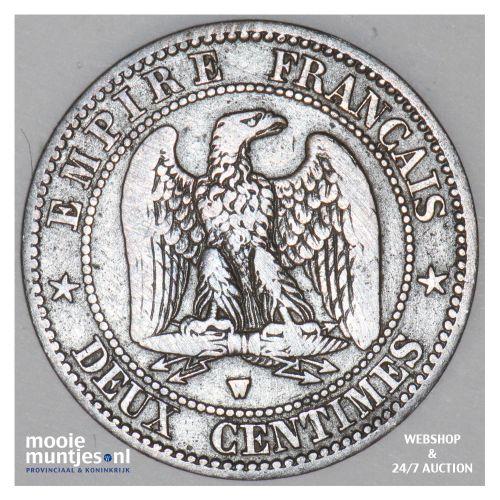 2 centimes - France 1856 W (Lille) (KM 776.7) (kant B)