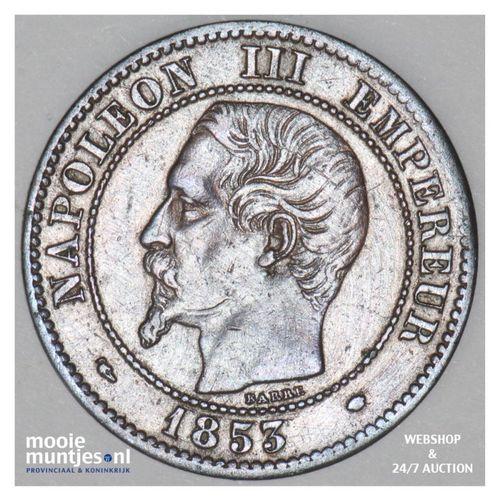 2 centimes - France 1853 MA (Marseille) (KM 776.6) (kant A)