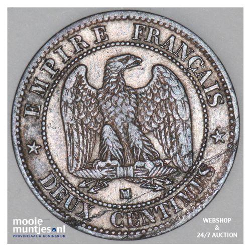 2 centimes - France 1853 MA (Marseille) (KM 776.6) (kant B)