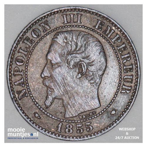 2 centimes - France 1855 MA (Marseille) (KM 776.6) (kant A)