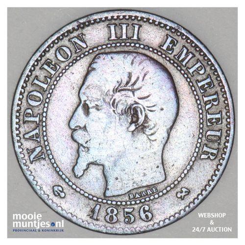 2 centimes - France 1856 B (Rouen) (KM 776.6) (kant A)