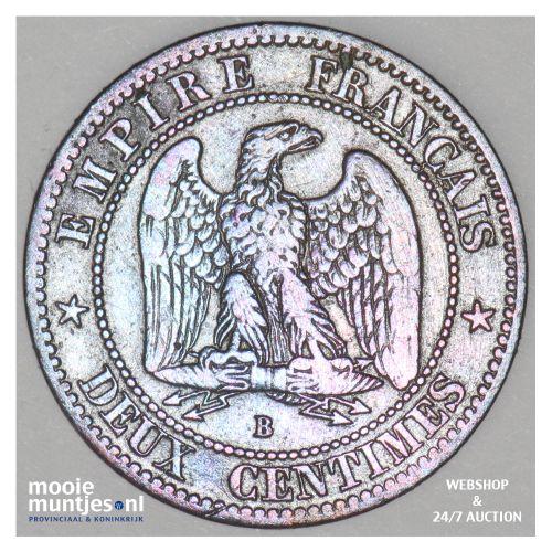 2 centimes - France 1856 B (Rouen) (KM 776.6) (kant B)