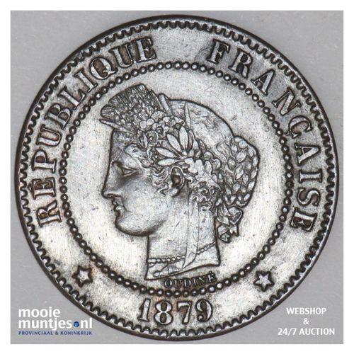2 centimes - France 1879 A (Paris) (KM 827.1) (kant A)