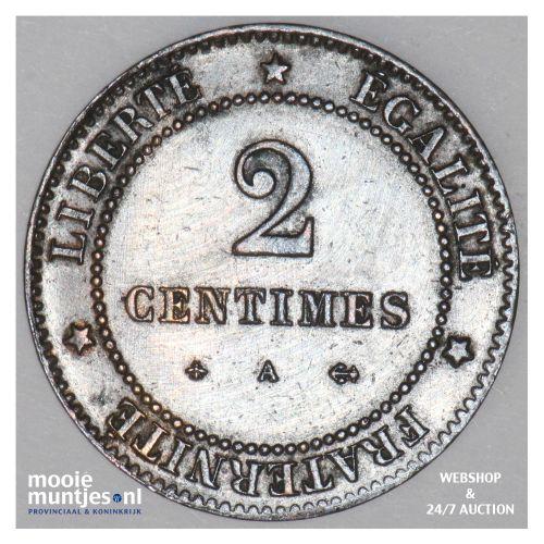 2 centimes - France 1879 A (Paris) (KM 827.1) (kant B)