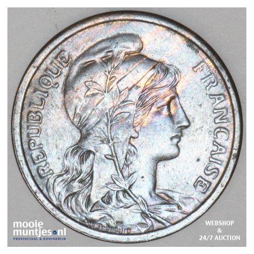 2 centimes - France 1911 (KM 841) (kant B)