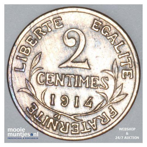2 centimes - France 1914 (KM 841) (kant A)