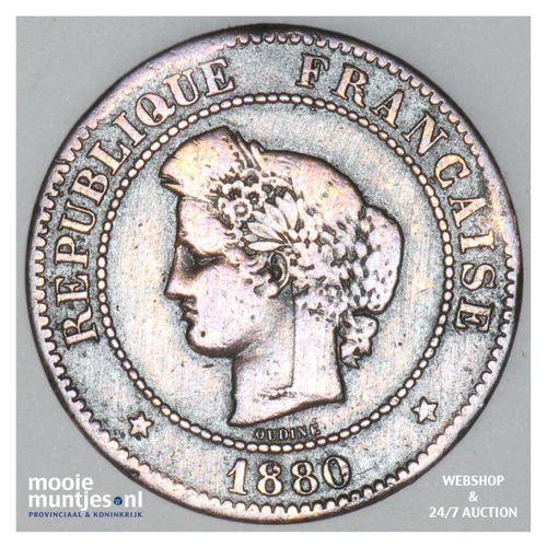 5 centimes - France 1880 A (Paris) (KM 821.1) (kant A)