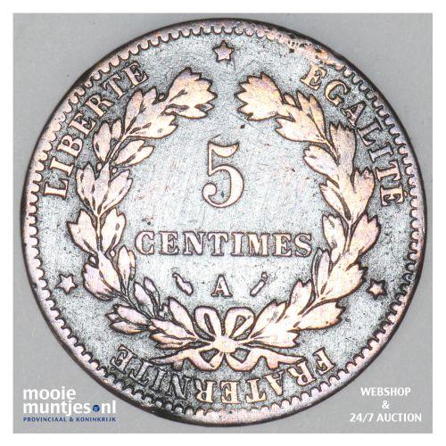 5 centimes - France 1880 A (Paris) (KM 821.1) (kant B)