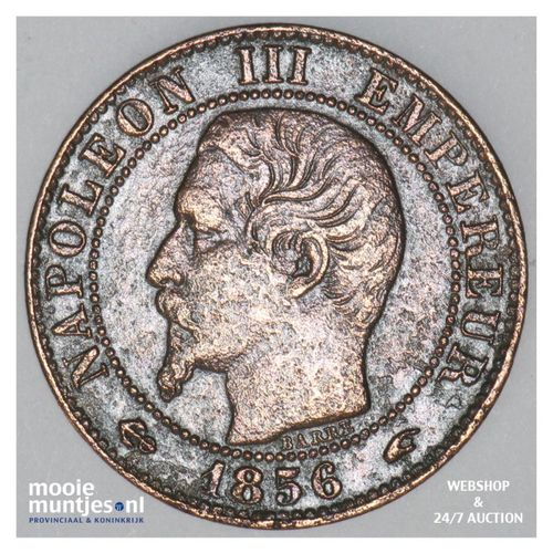 5 centimes - France 1856 A (Paris) (KM 777.1) (kant A)