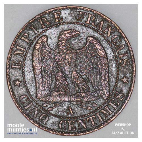 5 centimes - France 1856 A (Paris) (KM 777.1) (kant B)
