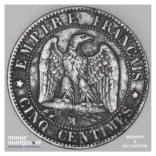 5 centimes - France 1854 MA (Marseille) (KM 777.6) (kant B)