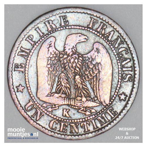 centime - France 1862 K (Bordeaux) (KM 795.3) (kant B)
