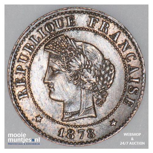 centime - France 1878 A (Paris) (KM 826.1) (kant A)
