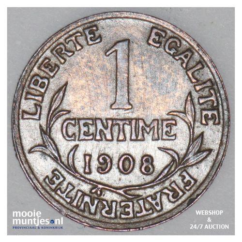 centime - France 1908 (KM 840 ) (kant A)