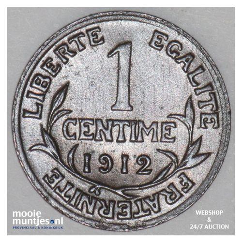 centime - France 1912 (KM 840 ) (kant A)