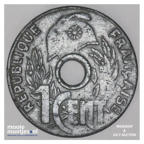 cent - French Indo-China 1941 (KM 24.3) (kant B)