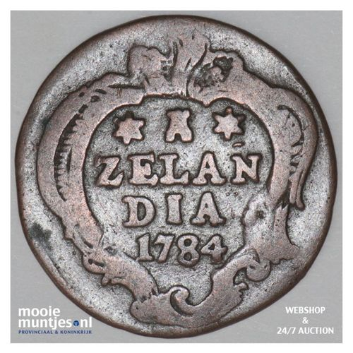 Zeeland - Duit - 1784 (kant A)