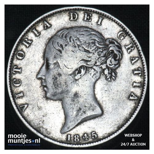 1/2 crown - Great Britain 1845 (KM 740) (kant A)