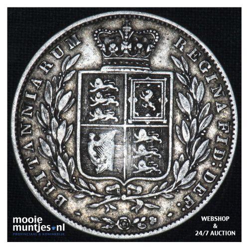 1/2 crown - Great Britain 1845 (KM 740) (kant B)