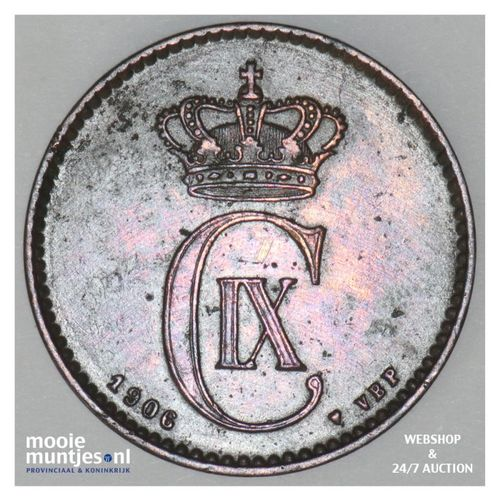 2 ore - Denmark 1906 (h) VBP (KM 793.2) (kant A)