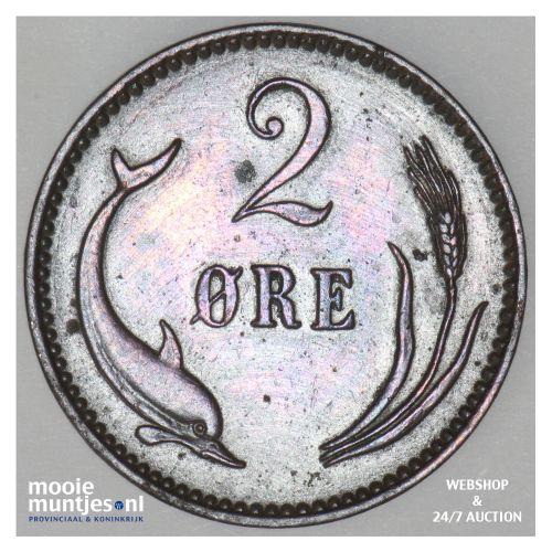 2 ore - Denmark 1906 (h) VBP (KM 793.2) (kant B)