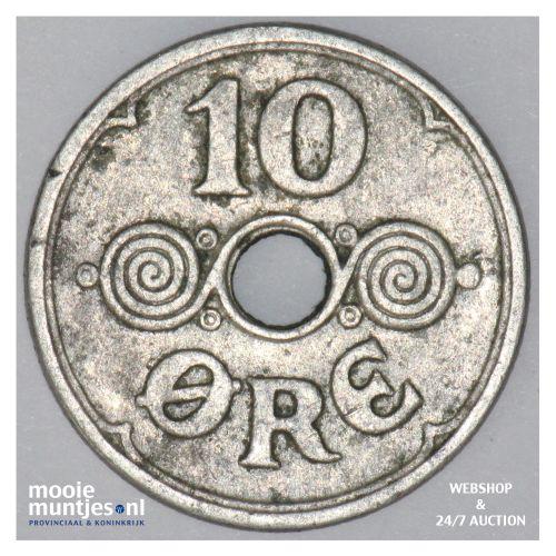 10 ore - Denmark 1929 (h) N; GJ (KM 822.2) (kant B)
