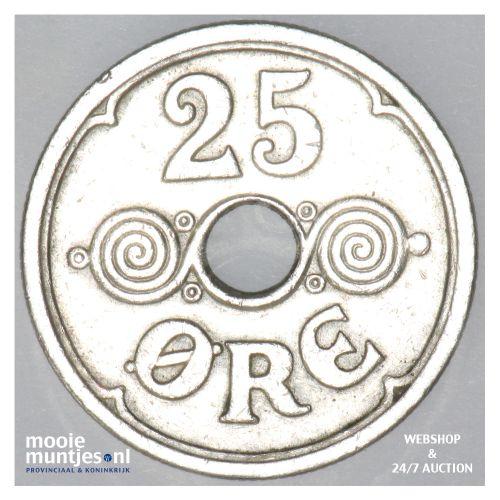 25 ore - Denmark 1921 (h) N; GJ (KM 823.2) (kant B)
