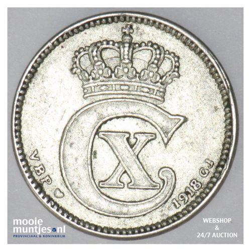 25 ore - Denmark 1918 (h) VBP; GJ (KM 815.1) (kant A)