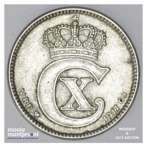 25 ore - Denmark 1917 (h) VBP; GJ (KM 815.1) (kant A)