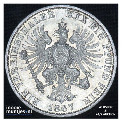 thaler  - German States/Prussia 1867 A (KM 494) (kant A)