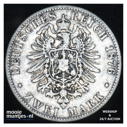 2 mark - (reform coinage) - German States/Prussia 1876 B (KM 506) (kant A)